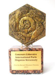 Statuetka w Międzynarodowym Konkursie artystycznym za ilustrację i grafikę - Zbigniew Kresowaty